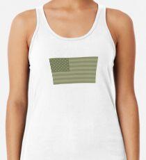 Camo Sternenbanner - USA Flagge militärische Camouflage Farben Racerback Tank Top