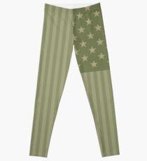 Camo Sternenbanner - USA Flagge militärische Camouflage Farben Leggings