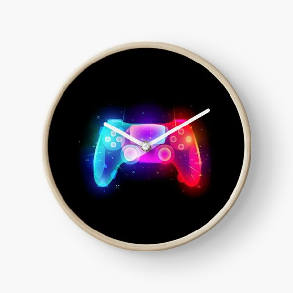 Playstation PS4 Controller - Colour Explosion Clock