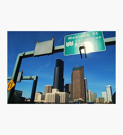 Freeway to Seattle Photographic Print
