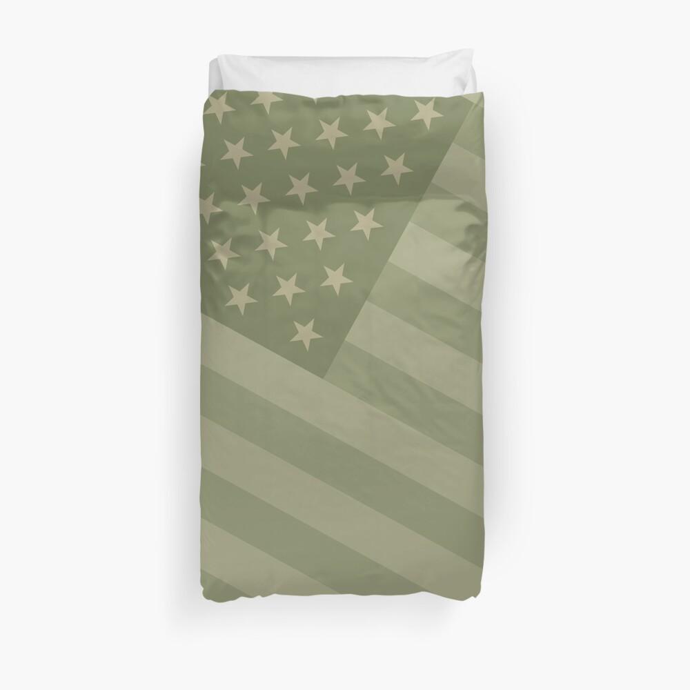 Camo Sternenbanner - USA Flagge militärische Camouflage Farben Bettbezug