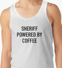 Sheriff Powered By Coffee Men's Tank Top