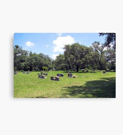 The Cemetery ll Canvas Print