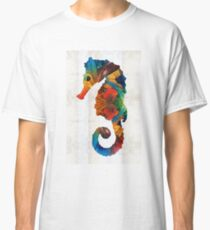 Colorful Seahorse Art by Sharon Cummings Classic T-Shirt