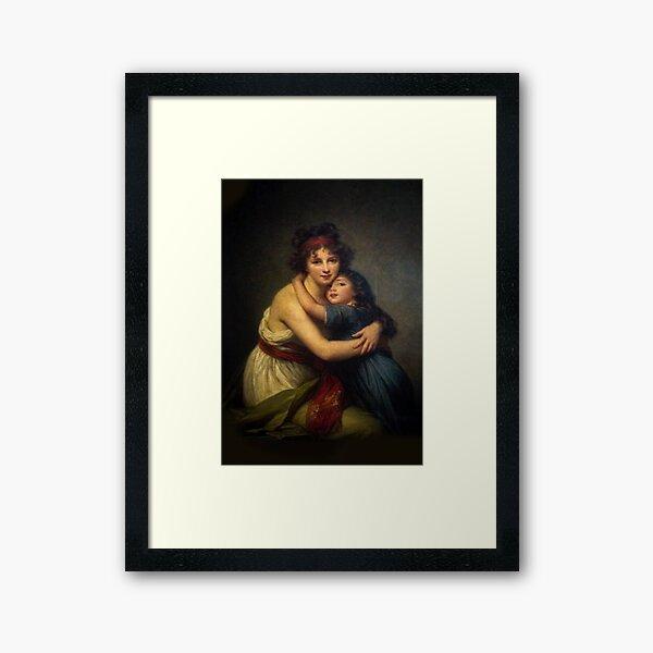 Louvre Paris - Vigee Le Brun - Self-Portrait Framed Art Print