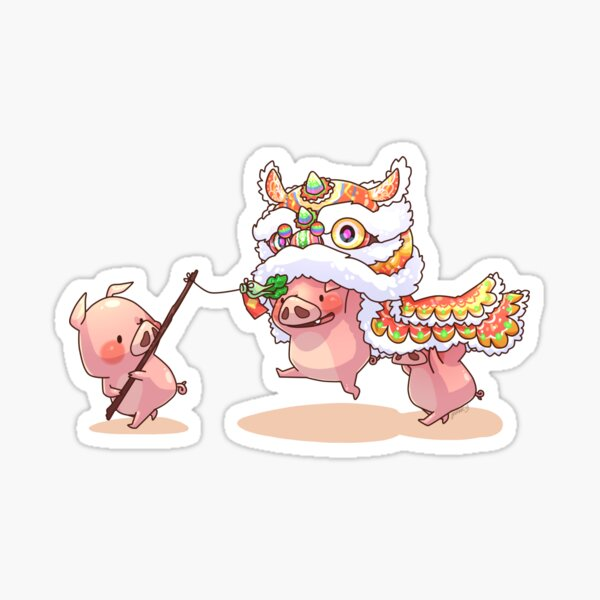 Year of the Three Little Pigs Sticker