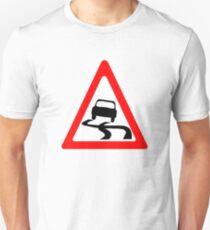 Slippery Road Symbol T-Shirt