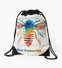 Bee Colorful - Art by Sharon Cummings Drawstring Bag