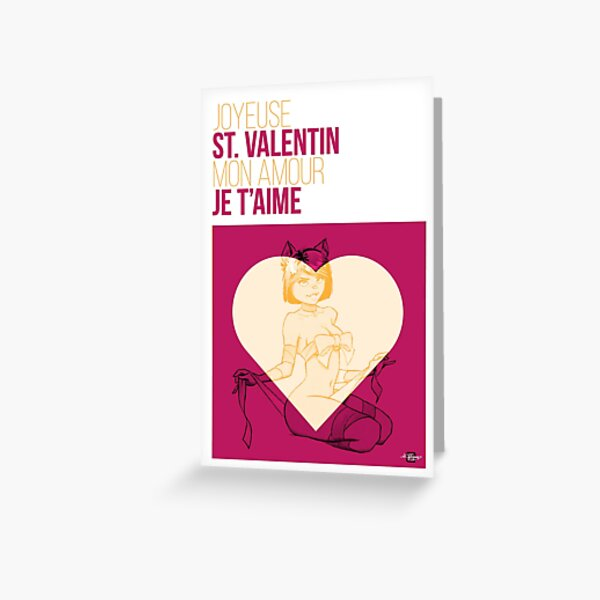 Carte de St. Valentin Carte de vœux