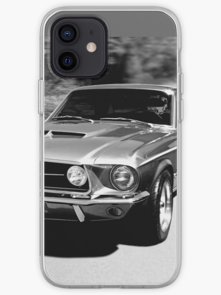 1967 Ford Mustang N / B   Coque iPhone