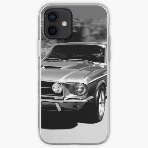 1967 Ford Mustang B/W  iPhone Soft Case