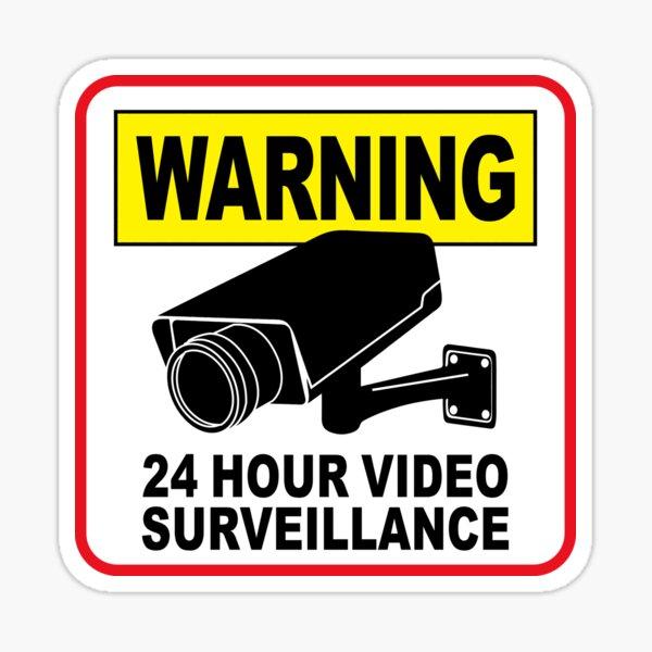 24 HOUR VIDEO SURVEILLANCE Sticker