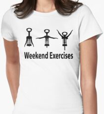 Weekend exercises Women's Fitted T-Shirt