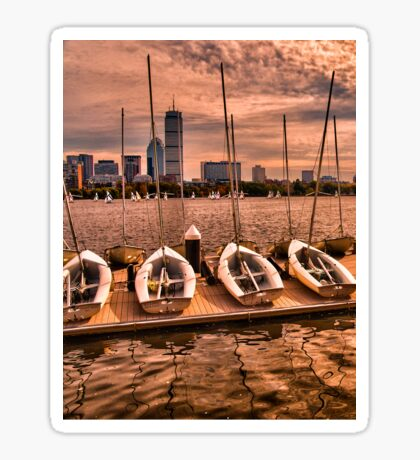 Charles River, Boston MA, USA Sticker