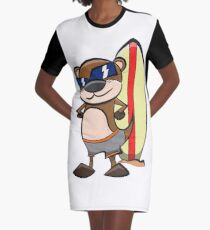 Otter - Surf - board T-Shirt Kleid
