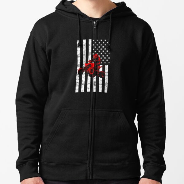 USA ATV and American Four Wheeler Quad Bike Gift Hoodie