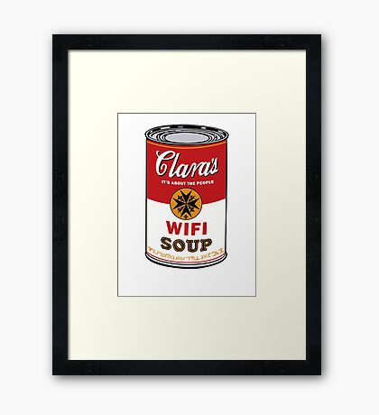 Wifi Soup Framed Print