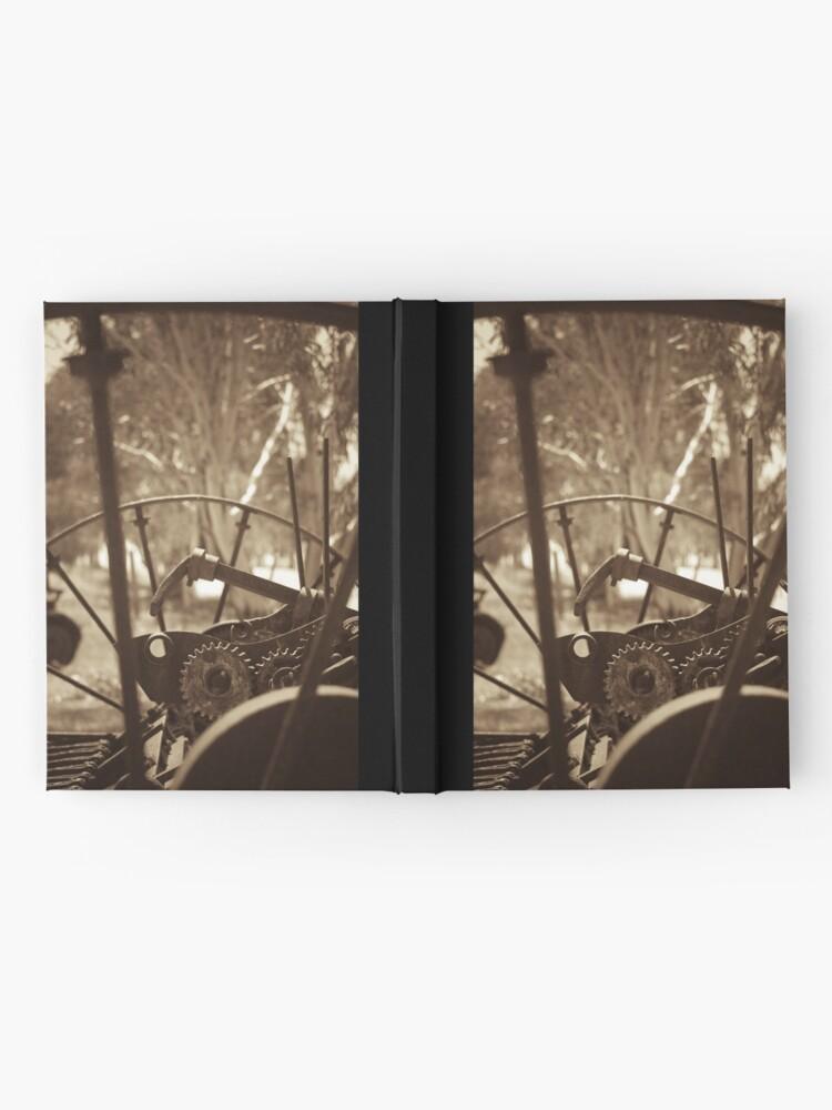 Alternate view of Rusting farm equipment - sepia Hardcover Journal