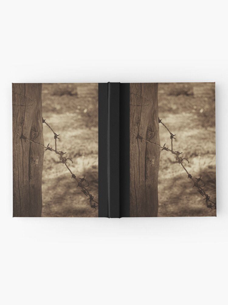 Alternate view of Old barbed wire - sepia Hardcover Journal