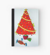 Orange Xmas Tree Hardcover Journal