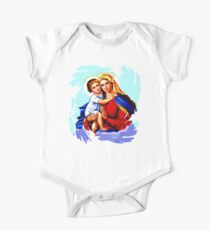 Madonna with Child  Short Sleeve Baby One-Piece