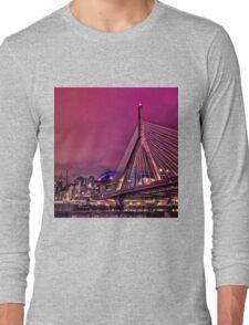 Zakim bridge, Boston MA Long Sleeve T-Shirt