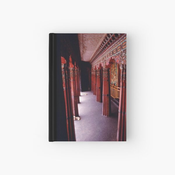 Porch of Potala with Dogs - Lhasa, Tibet Hardcover Journal