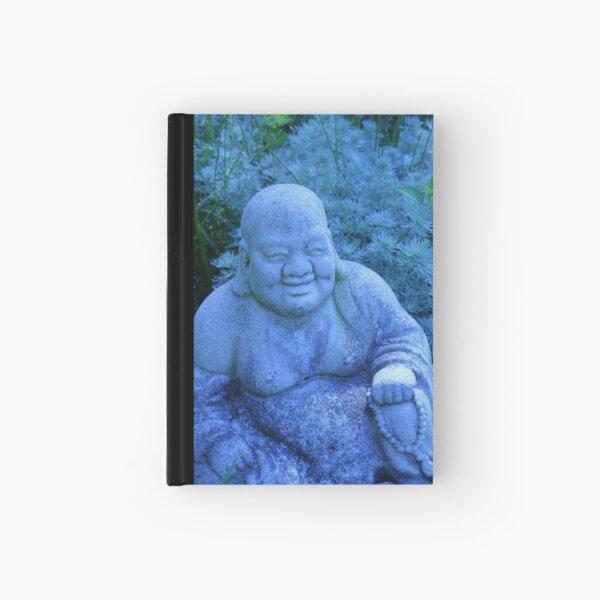 garden buddha in blue Hardcover Journal