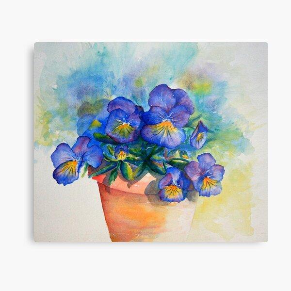 panises in a pot watercolor by CheyAnne Sexton Metal Print