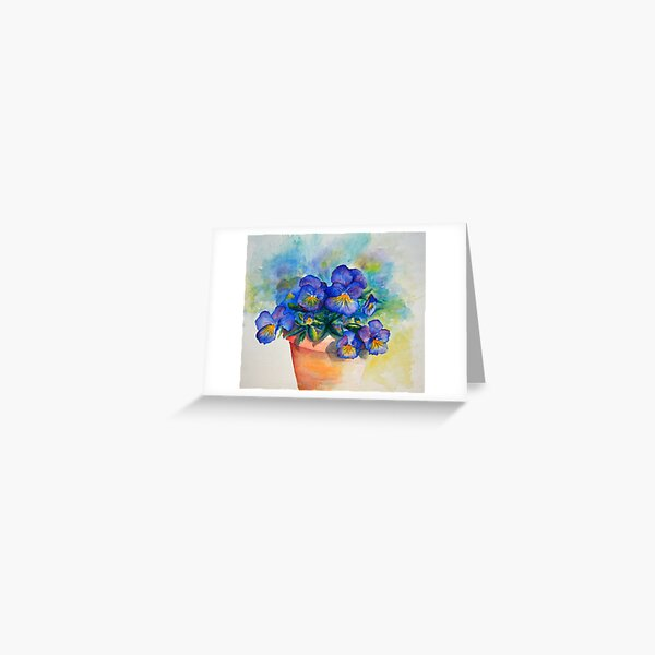 panises in a pot watercolor by CheyAnne Sexton Greeting Card