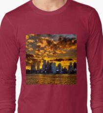 Sunset over Boston Harbor T-Shirt