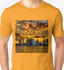 Sunset over Boston Harbor Unisex T-Shirt