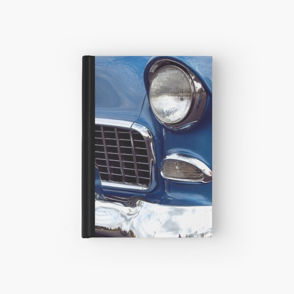 1955 Blue Chevy Front End Hardcover Journal