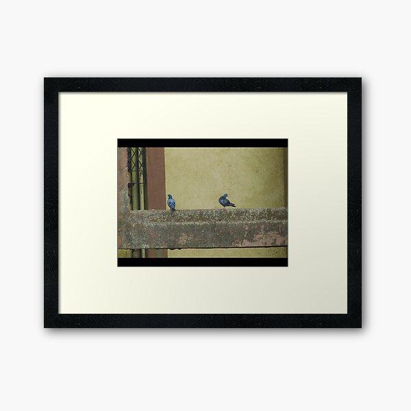Akele Hum Akele Tum ( we are together but alone) Framed Art Print
