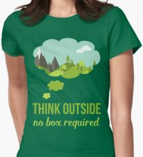 Think Outside No Box Required Walking Hiking T Shirt T-Shirt