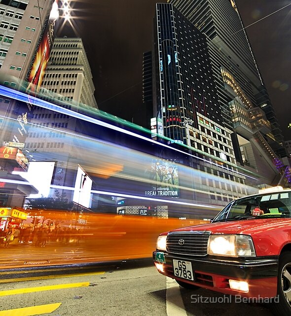 HK Taxi at Sogo by Delfino