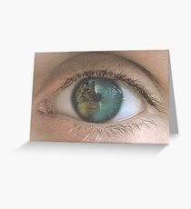 Cats eye Greeting Card