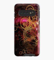 Time Lord Writing (rot) Hülle & Klebefolie für Samsung Galaxy