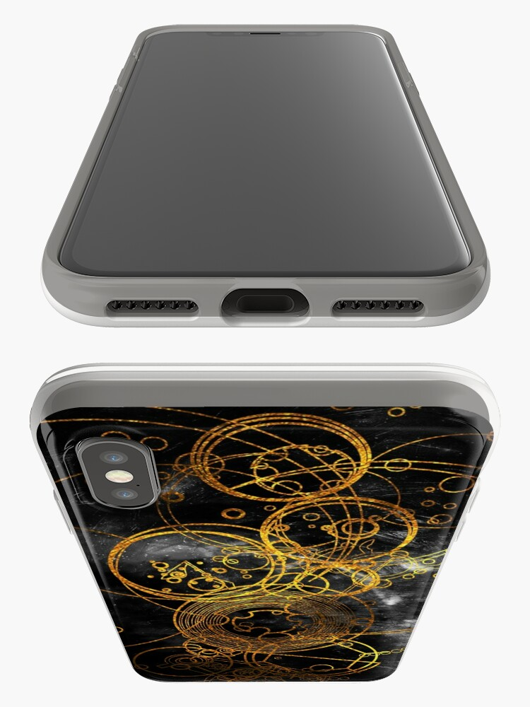 Alternate view of Time Lord Writing (black) iPhone Cases & Covers