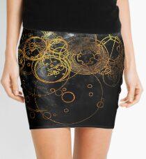 Time Lord Writing (black) Mini Skirt