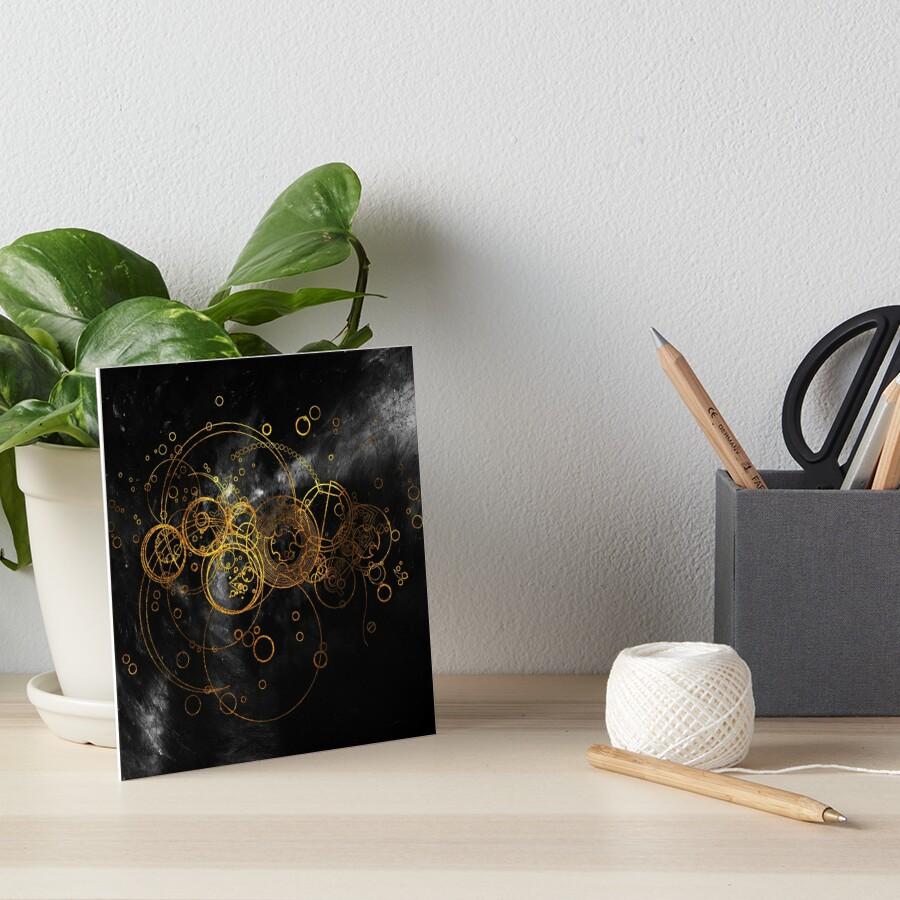 Time Lord Writing (black) Art Board Print