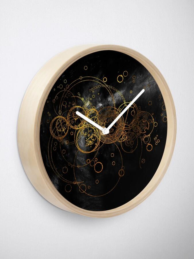 Alternative Ansicht von Time Lord Writing (schwarz) Uhr