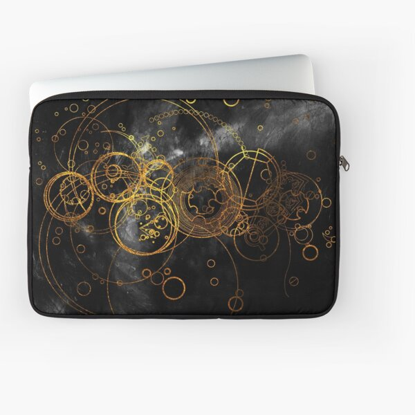 Time Lord Writing (black) Laptop Sleeve