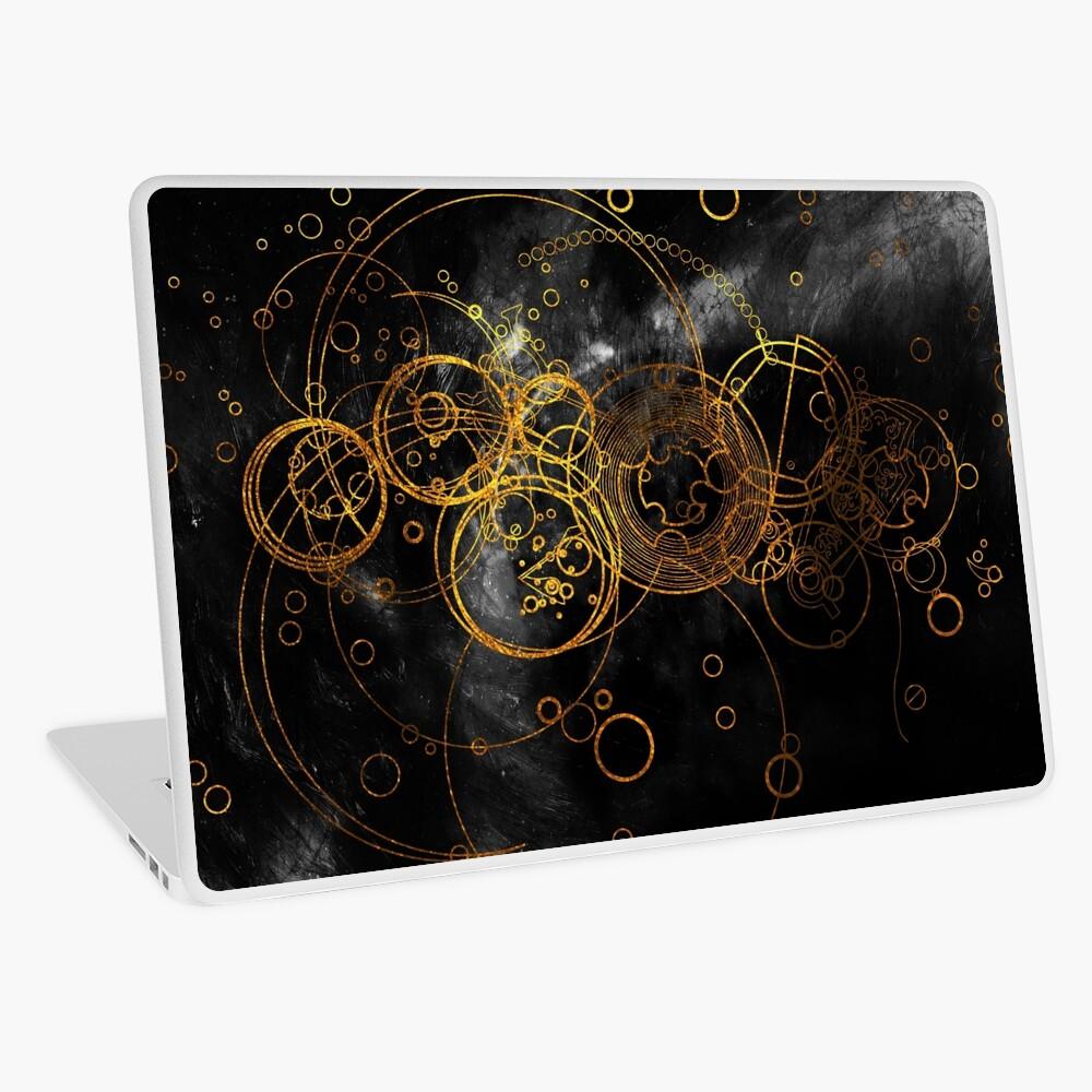 Time Lord Writing (black) Laptop Skin