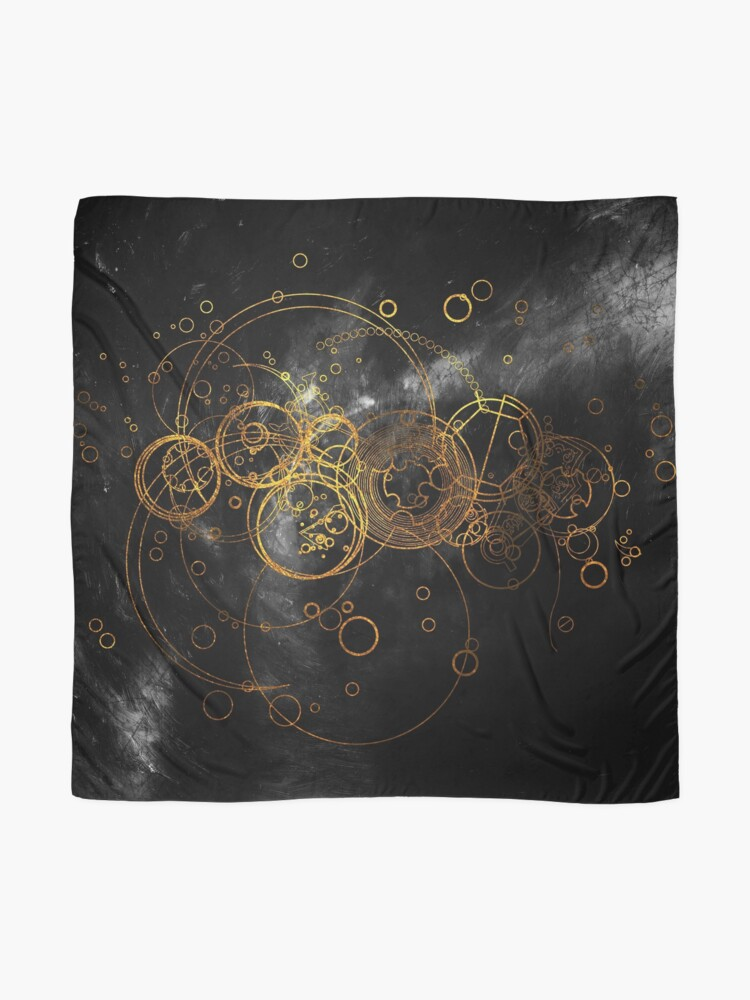 Alternate view of Time Lord Writing (black) Scarf