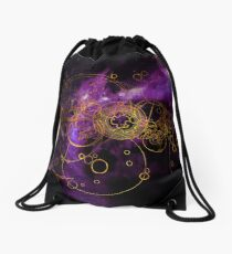 Time Lord Writing (purple) Drawstring Bag