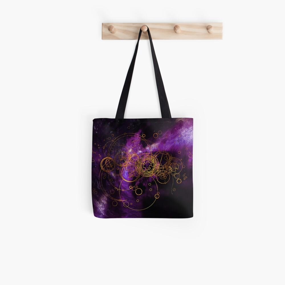 Time Lord Writing (purple) Tote Bag