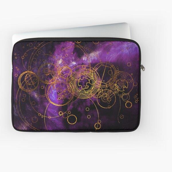 Time Lord Writing (purple) Laptop Sleeve