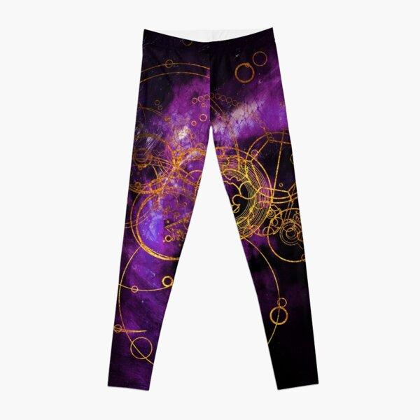Time Lord Writing (purple) Leggings