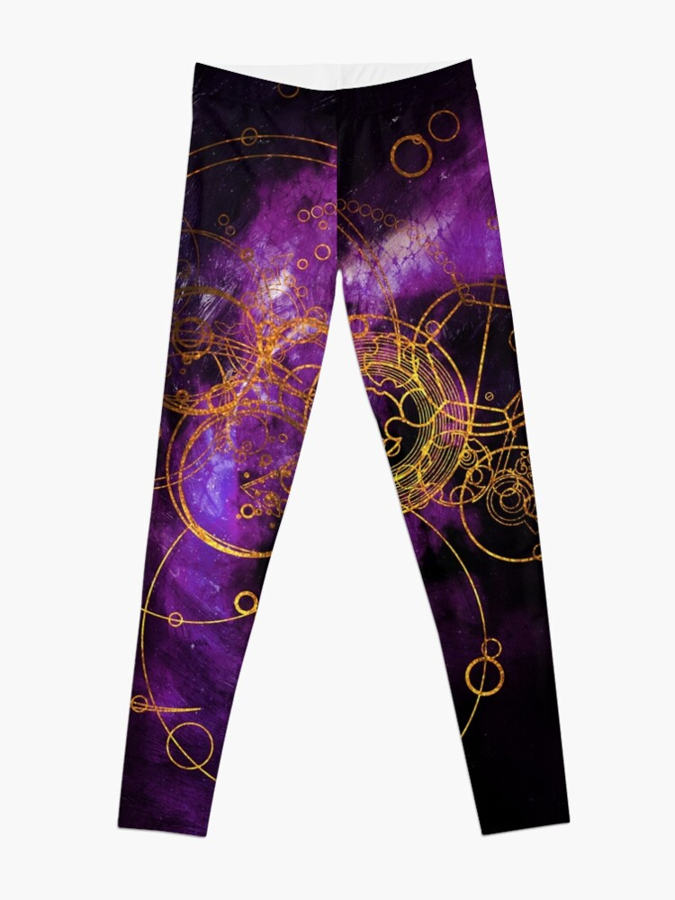 Alternate view of Time Lord Writing (purple) Leggings
